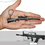 Metal Gun Model with Key Ring