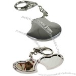 Metal Heart Shaped Photo Key Tag