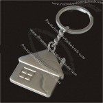Metal House Shaped Keychain
