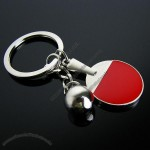 Metal Key Ring With Table Tennis Board