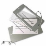 Metal Luggage Tag with Acrylic Plate and Paper Card