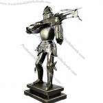 Metal Medieval Suit of Armor with Crossbow Crafts
