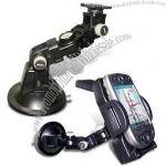 Metal PDA Holder with Suction Cup Glass Mount Base