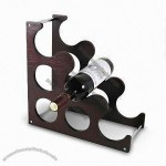 Metal Red Wine Holder with Chrome-plated Finish