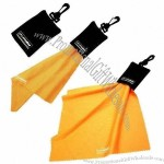 Microfiber Cleaning Cloth with Velvet Pouch 210gsm