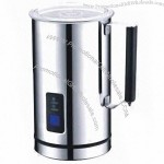 Milk Frother with Double Stainless Steel Jug and 250mL Capacity to Froth Either Hot or Cold Milk