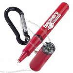 Mini Compass Pen with Carabiner