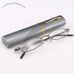 Mini Eyeglasses Aluminum Case with Folding Glasses