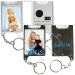 Mini Flashlight Snap-In Photo Keytag