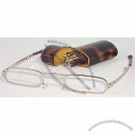 Mini Folding Glasses with Tortoise Shell case