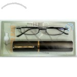 Mini Folding Reading Glasses with Metal Case