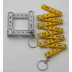 Mini Folding Ruler with Keychain