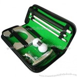 Mini Golf Aids Indoor Ball Holder Putter Putting Practice Kit Golfer Training Set With Case