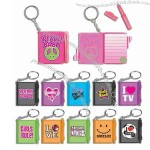 Mini keyring notebook with pen