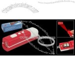 Mini LCD Projection Clock Keychain Key Ring Red White