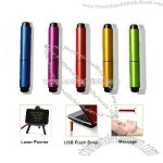 Mini Metal USB Memory Stick with Laser Pointer and Massage function