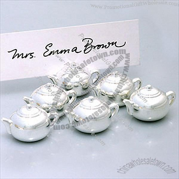 Mini Silver Teapot Place Card Holder Cheap Price 296425398