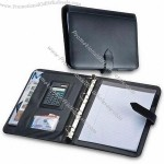 Modern Conference Folder with Binder Note Pad and Calculator