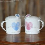 Modern Couple Cups with Lid