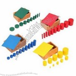 Montessori Material, Knobless Cylinders Beechwood