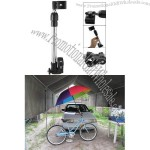 Moped Bike Bicycle Mount Holder for Sunny Rain Umbrella