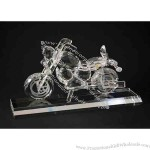 Motorcycle Set Optical Crystal Award / Trophy