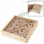 Moving Wooden Marbe Puzzle Game Maze Toys Labyrinth