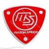 MS Shield Red Personality Thin Car Sticker with 100% Guaranteed and Stereo Feeling