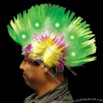 Multi Color - Light up L.E.D. mohawk wig