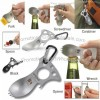 Multi-function CRKT Eat'N Tool Carabiner/Spoon/Fork/Screwdriver/Openner/Wrench