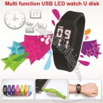 Multi Function LED Watch U Disk Water Proof USB Flash Drive Bracelet