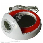 Multi-Function USB Cup Warmer with LCD Clock