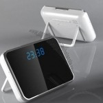 Multi-Functional Table Clock Hidden Motion Detection Watch Camera w/Mirror remote control