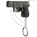 Multi Gun Shaped Windproof Lighter with Keychain