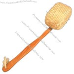 Multi use back scratcher scrubber and whole body maple wood massager.