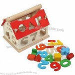 Multicolor Number House, Wooden Educational Toy