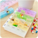 MultiColour 7 Days 28 Compartment Weekly Pill Box