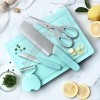 Multifunction Foldable Kitchen Cutting Board Knife Set For Outdoor RV BBQ