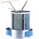 Multifunctional Pen Holder with Calendar Clock