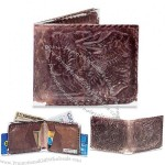 My Old Distressed Leather Tyvek Mighty Wallet