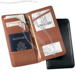 Nappa Leather Checkpoint Passport Case