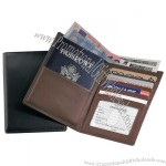 Nappa Leather RFID Blocking Passport Currency Wallet