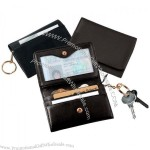 Nappa Leather Wallet with Removable Key Ring