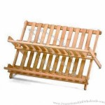 Natural Finish Bamboo Dish Rack