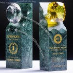 Natural Sapphire Marble Award Trophy
