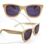 Natural yellow handmade bamboo sunglasses