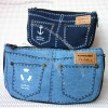 Nautical Design Jeans Pencil and Glasses Bag