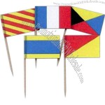 Nautical flag picks, 2 1/2""