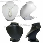 Necklace Display with Luxury Black/White Leatherette Bust