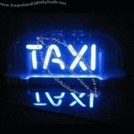 Neon Sign for Taxi Cab